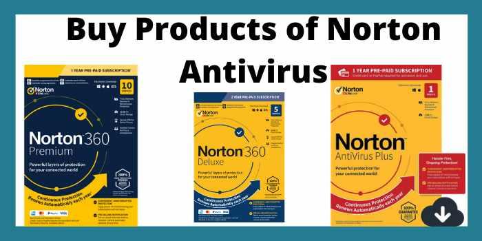 Buy products of norton antivirus