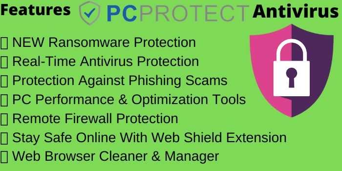 PC Protect Antivirus Features