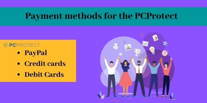 Payment methods for the PCProtect