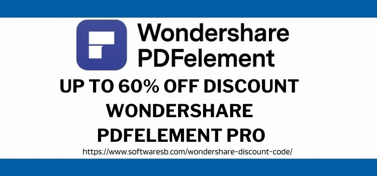 Discount Wondershare PDFelement Pro