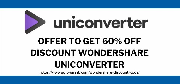 Discount Wondershare Uniconverter