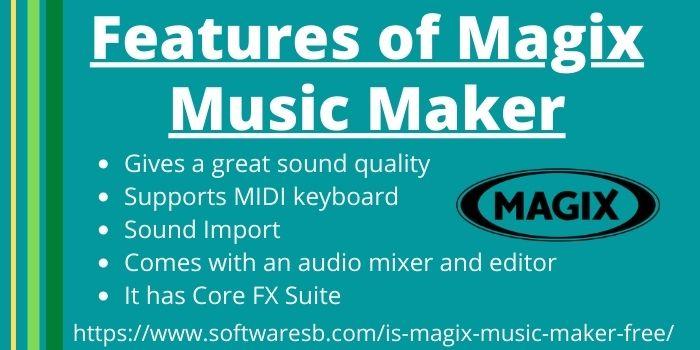 Features of Magix Music Maker www.softwaresb.com