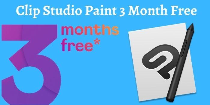 Clip Studio Paint 3 Month Free